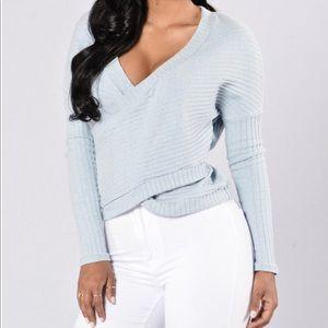 Light Blue Sweater Fashion Nova